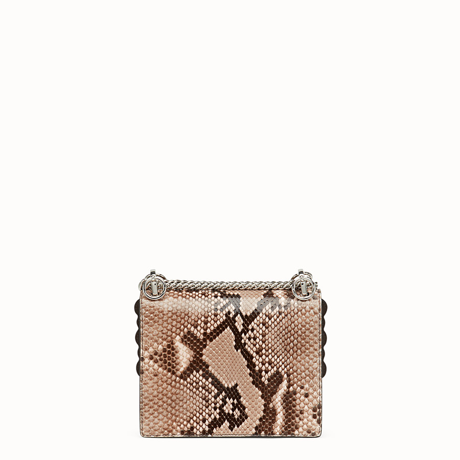 FENDI KAN I SMALL - Pink python mini-bag - view 3 detail