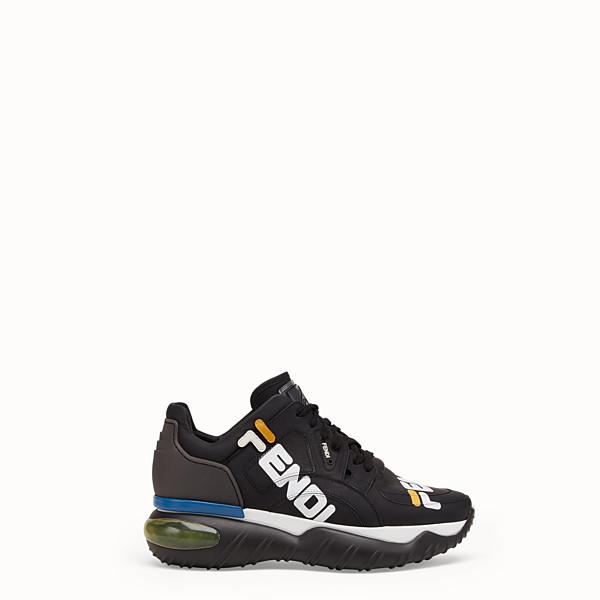 FENDI 運動鞋 - 黑色皮革運動鞋 - view 1 小型縮圖