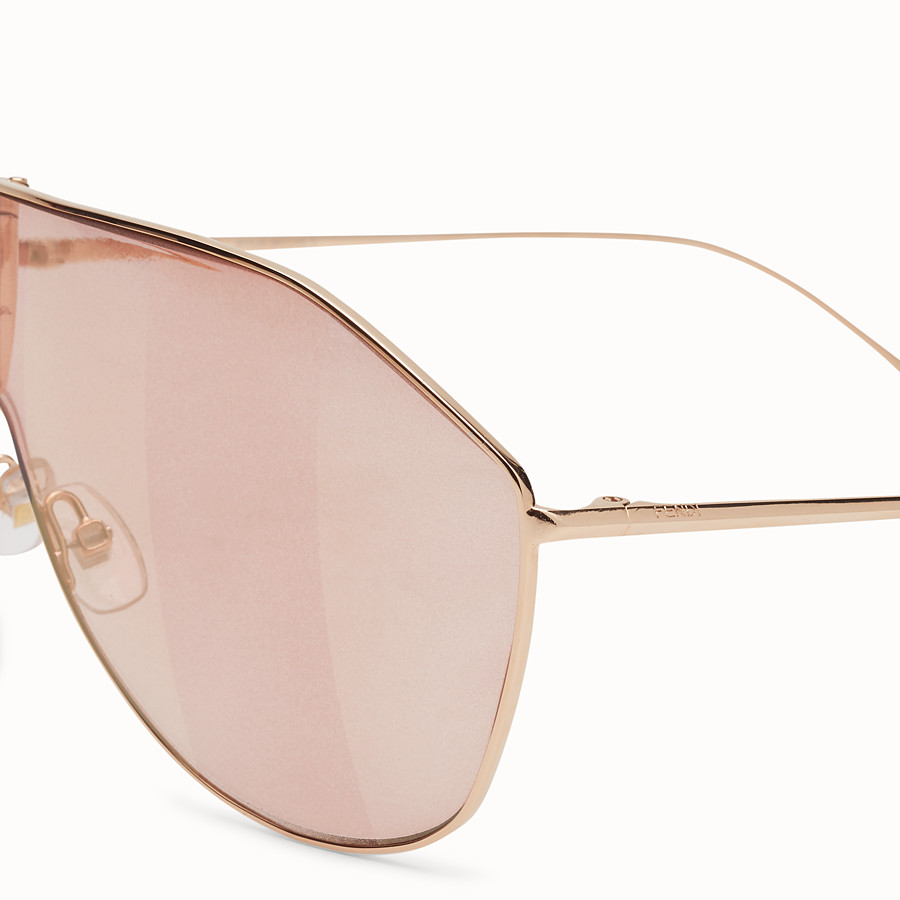 FENDI FF FAMILY - Pink sunglasses - view 3 detail