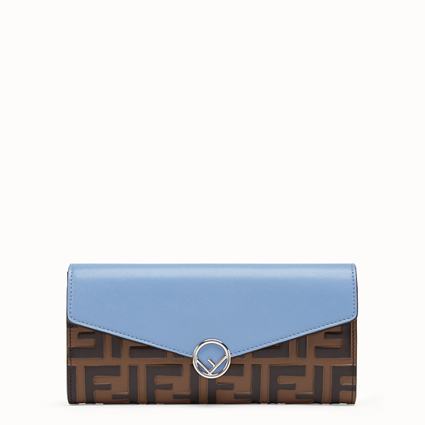 FENDI CARTERA CONTINENTAL - Cartera de piel azul - view 1 small thumbnail
