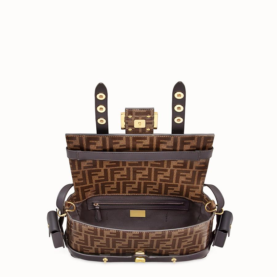 FENDI BAGUETTE CAGE - Brown fabric bag - view 6 detail