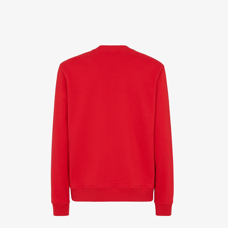 FENDI SWEATSHIRT - Red jersey sweatshirt - view 2 detail