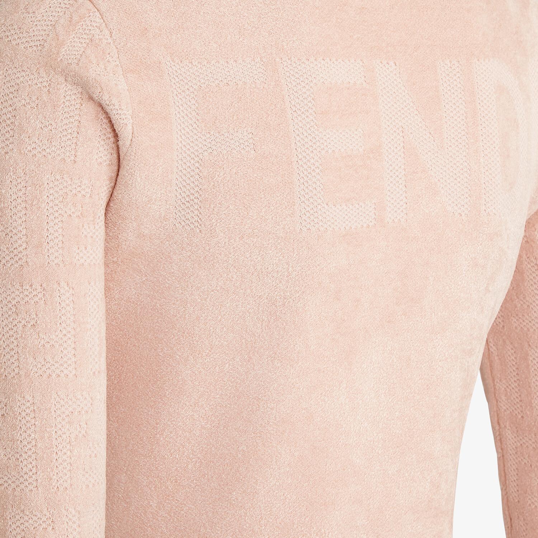 FENDI MAGLIA - Maglia in velluto rosa - vista 3 dettaglio
