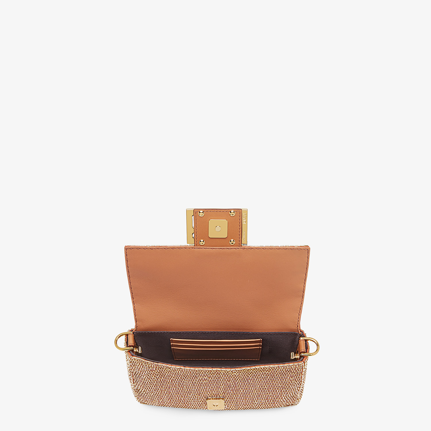 FENDI BAGUETTE - Brown leather bag - view 4 detail