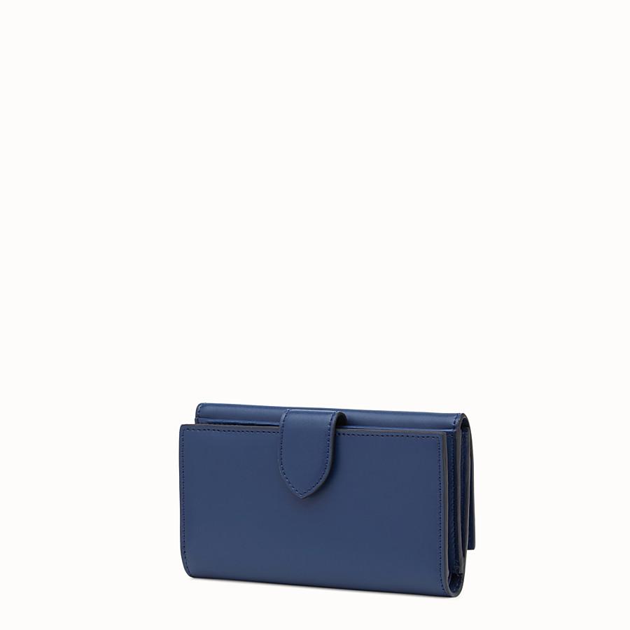 FENDI CONTINENTAL MEDIUM - Slim continental wallet in midnight-blue leather - view 2 detail