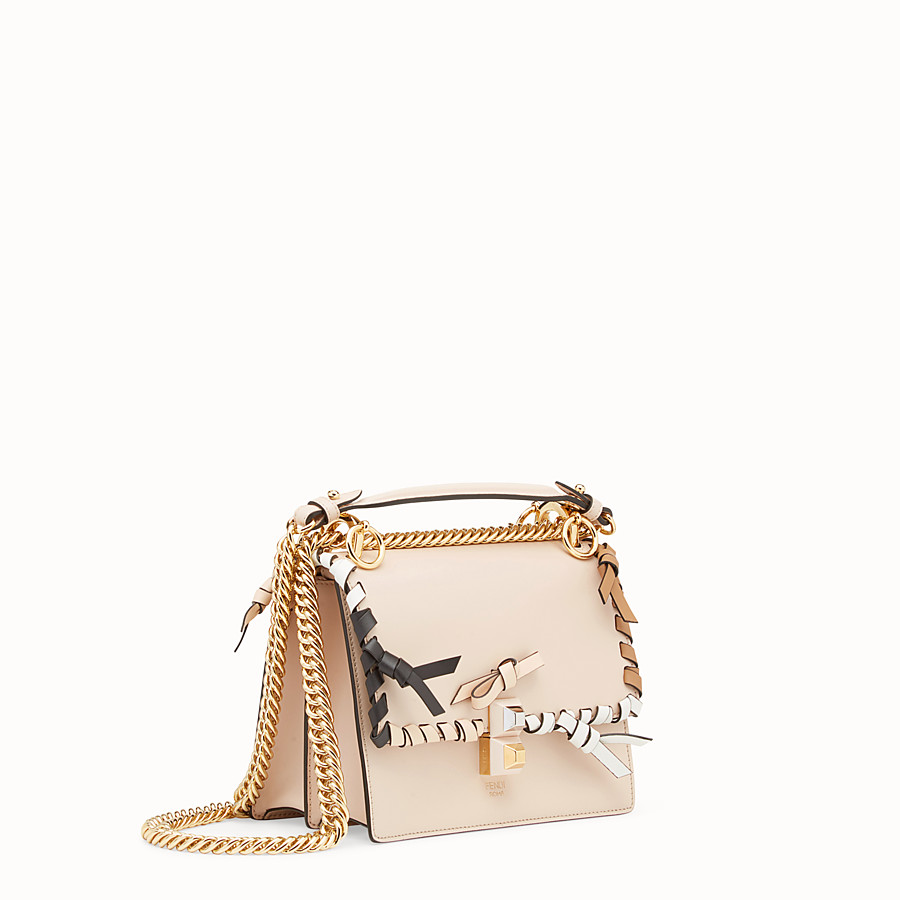 FENDI KAN I SMALL - Pink leather mini-bag - view 2 detail