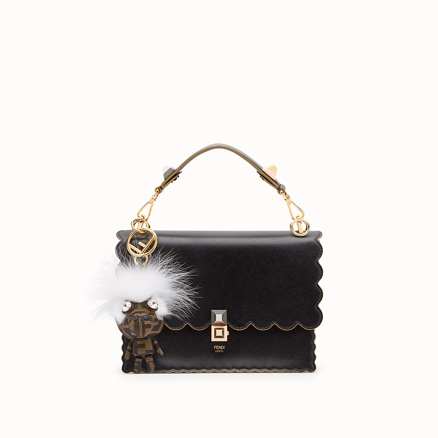 FENDI SPACE MONKEY - White fur charm - view 3 detail