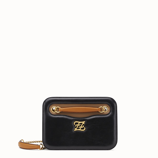 FENDI KARLIGRAPHY POCKET - Black leather bag - view 1 small thumbnail