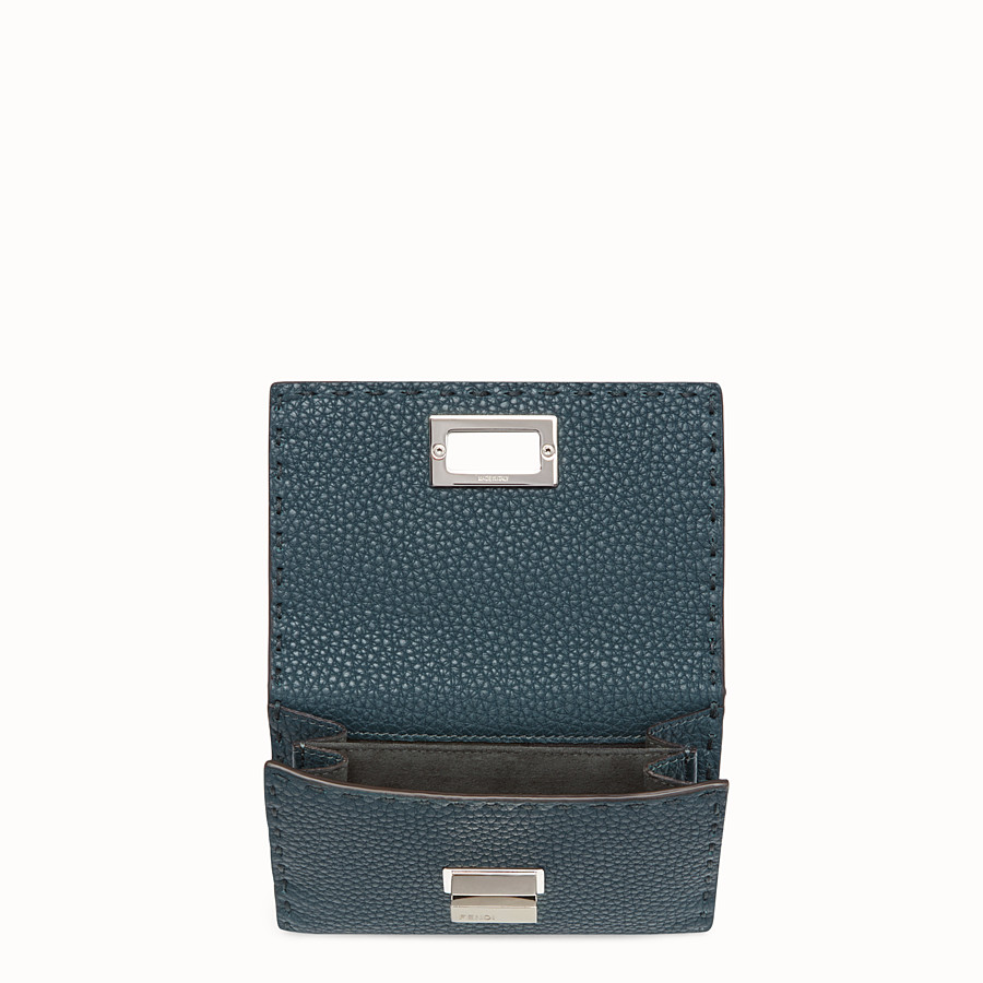 FENDI CONTINENTAL MEDIUM - Selleria medium blue continental wallet - view 4 detail