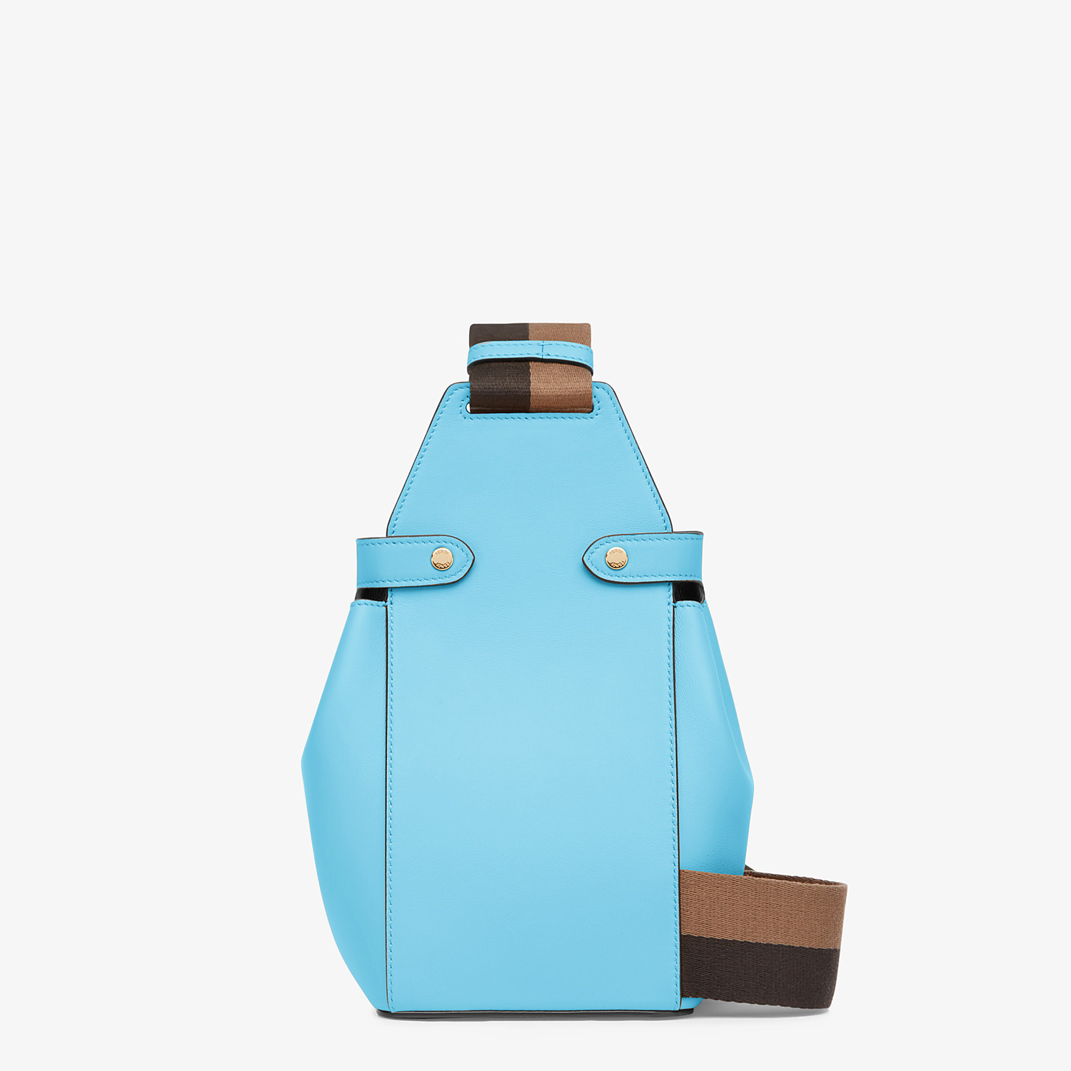 FENDI GUITAR BAG - Light blue leather mini-bag - view 4 detail