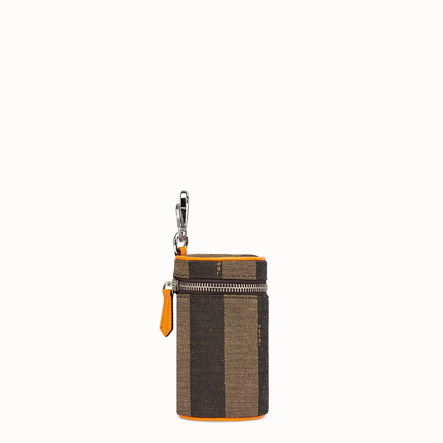 FENDI CANCASE - Brown fabric can holder - view 2 detail