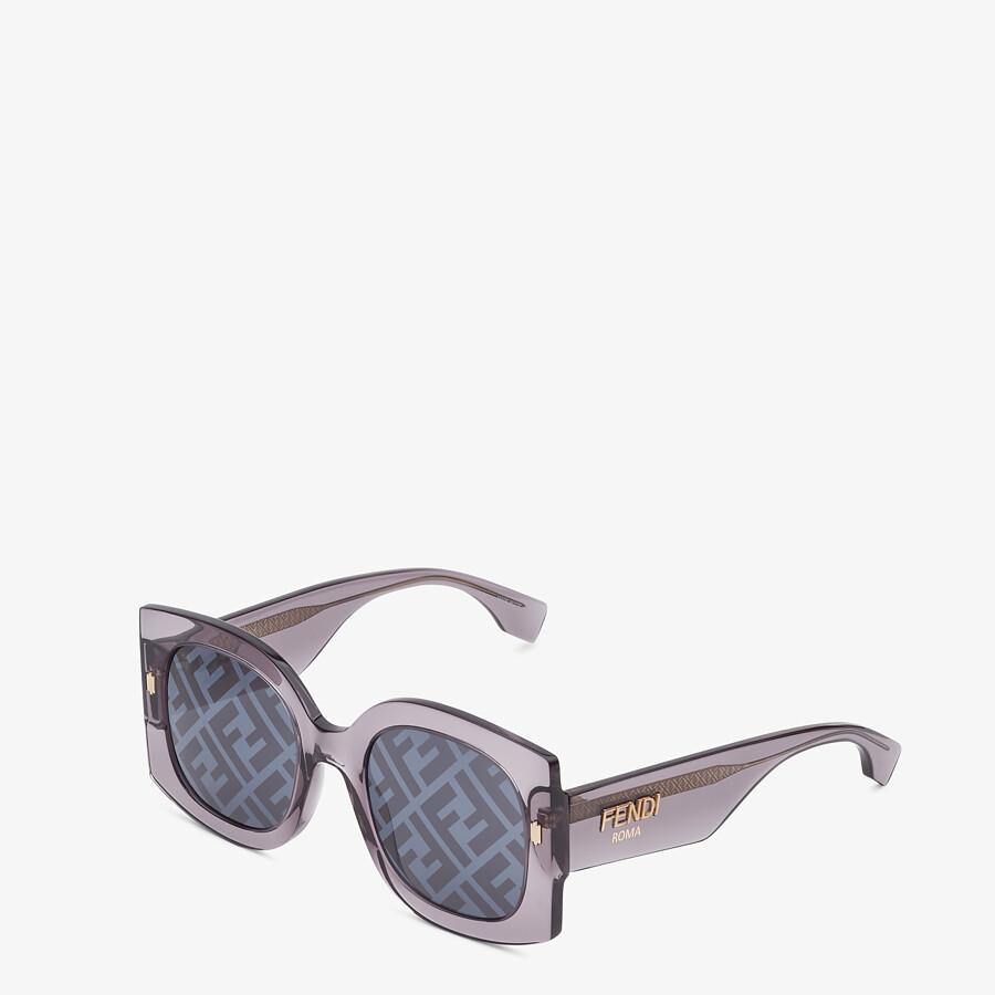 FENDI FENDI ROMA - Sunglasses in transparent gray acetate - view 2 detail