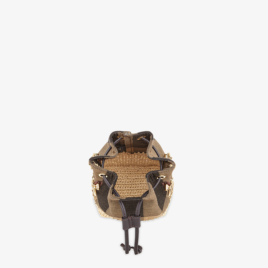 FENDI MON TRESOR - Brown fabric mini-bag - view 5 detail