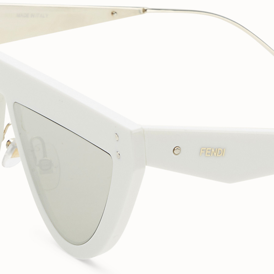 FENDI DEFENDER - White sunglasses - view 3 detail