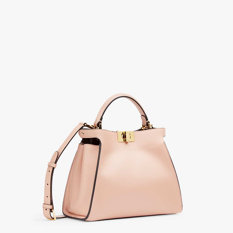 FENDI PEEKABOO ICONIC ESSENTIALLY - Tasche aus Leder in Rosa - view 3 detail