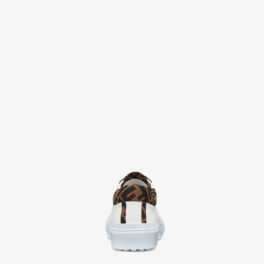 FENDI FENDI FORCE - White canvas and TPU low-tops - view 3 detail