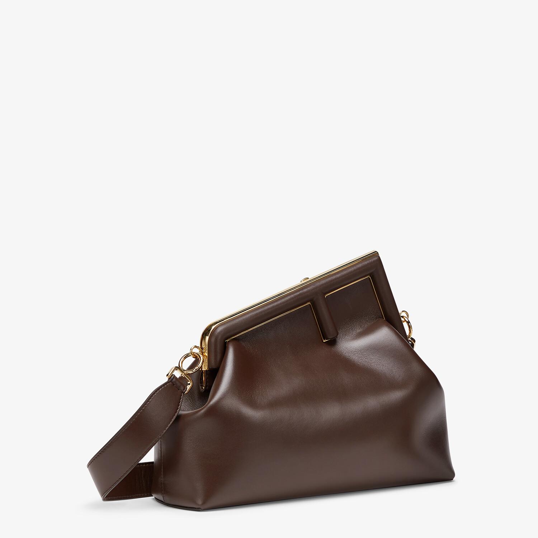 FENDI FENDI FIRST MEDIUM - Dark brown leather bag - view 3 detail