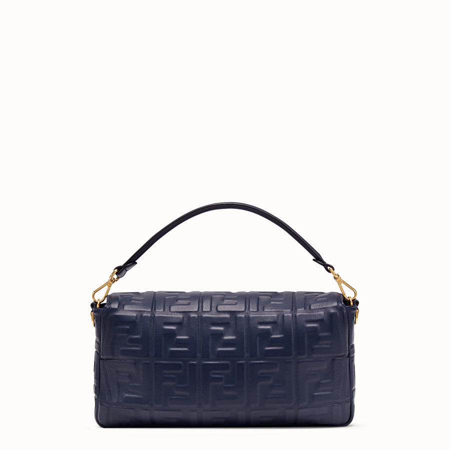 FENDI BAGUETTE LARGE - Blue nappa leather bag - view 4 detail