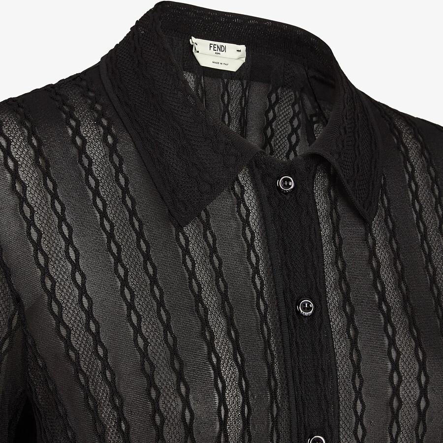 FENDI CARDIGAN - Black lace cardigan - view 3 detail