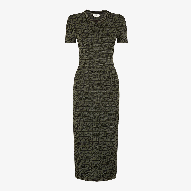 FENDI DRESS - Green viscose dress - view 1 detail