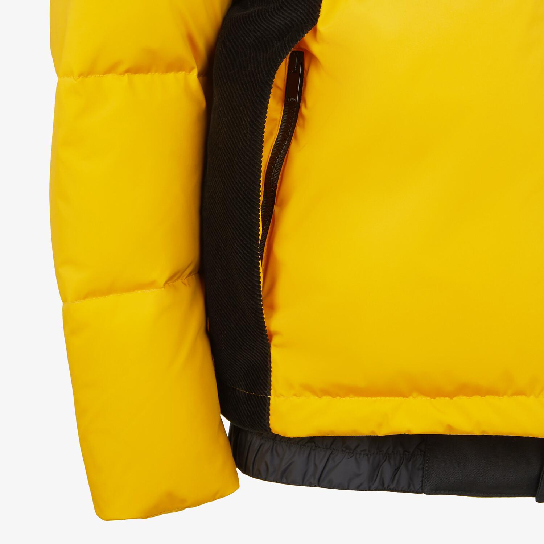 FENDI DOWN JACKET - Yellow tech fabric down jacket - view 3 detail