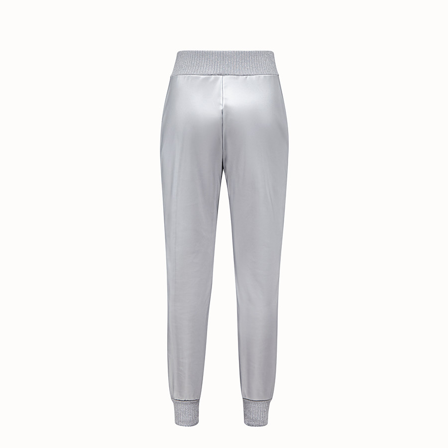FENDI TROUSERS - Silver, tech fabric jogging trousers - view 2 detail