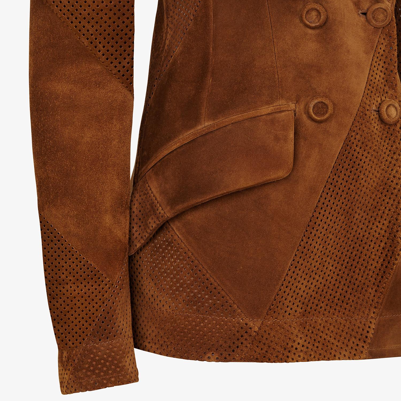 FENDI JACKET - Brown suede blazer - view 3 detail