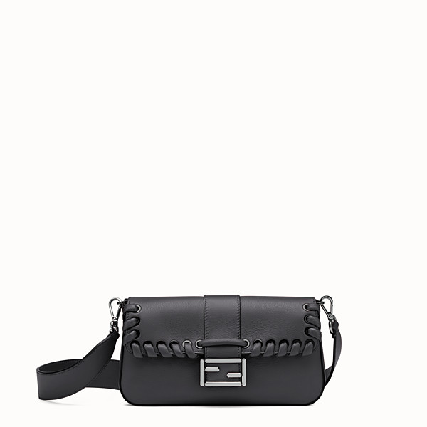 FENDI BAGUETTE - Black leather shoulder bag - view 1 small thumbnail