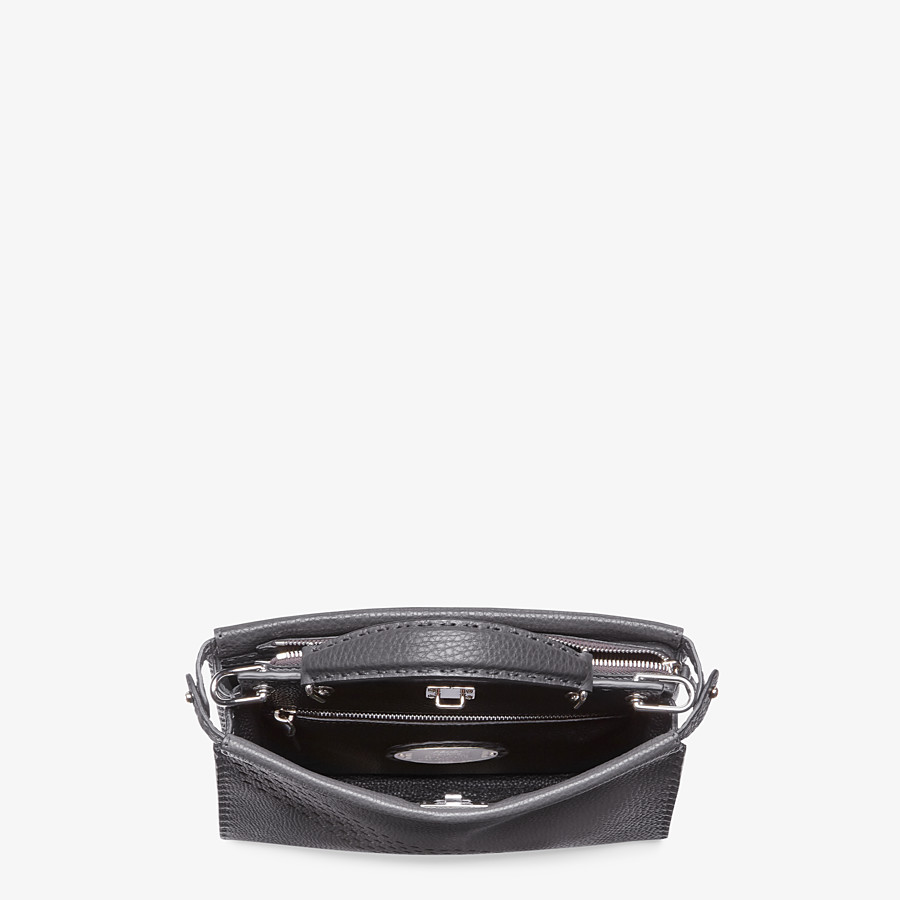FENDI PEEKABOO ICONIC FIT MINI - Gray calfskin bag - view 4 detail