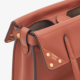 FENDI FENDI FLIP SMALL - Red leather mini-bag - view 6 thumbnail
