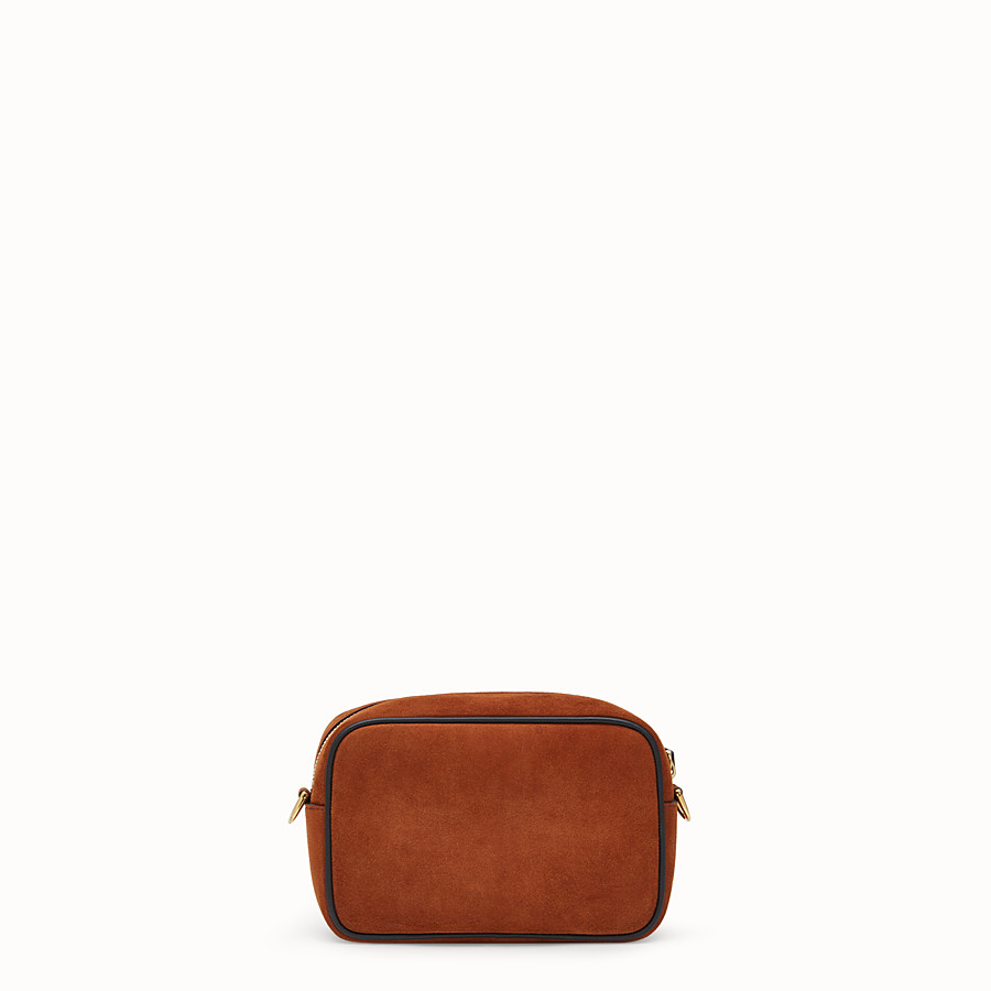 FENDI MINI CAMERA CASE - Natural-colour suede bag - view 3 detail