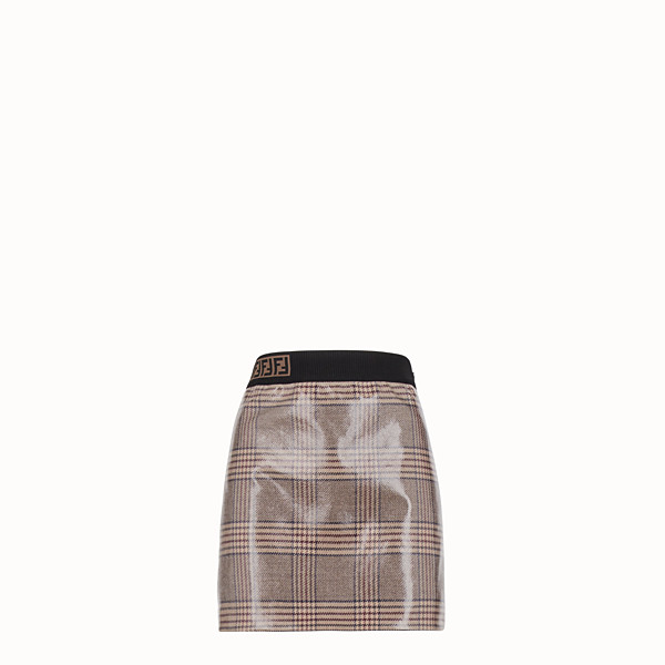 FENDI SKIRT - Prince of Wales check wool mini skirt - view 1 small thumbnail
