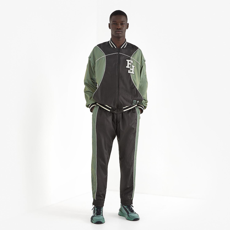 FENDI PANTS - Multicolor tech fabric pants - view 4 detail