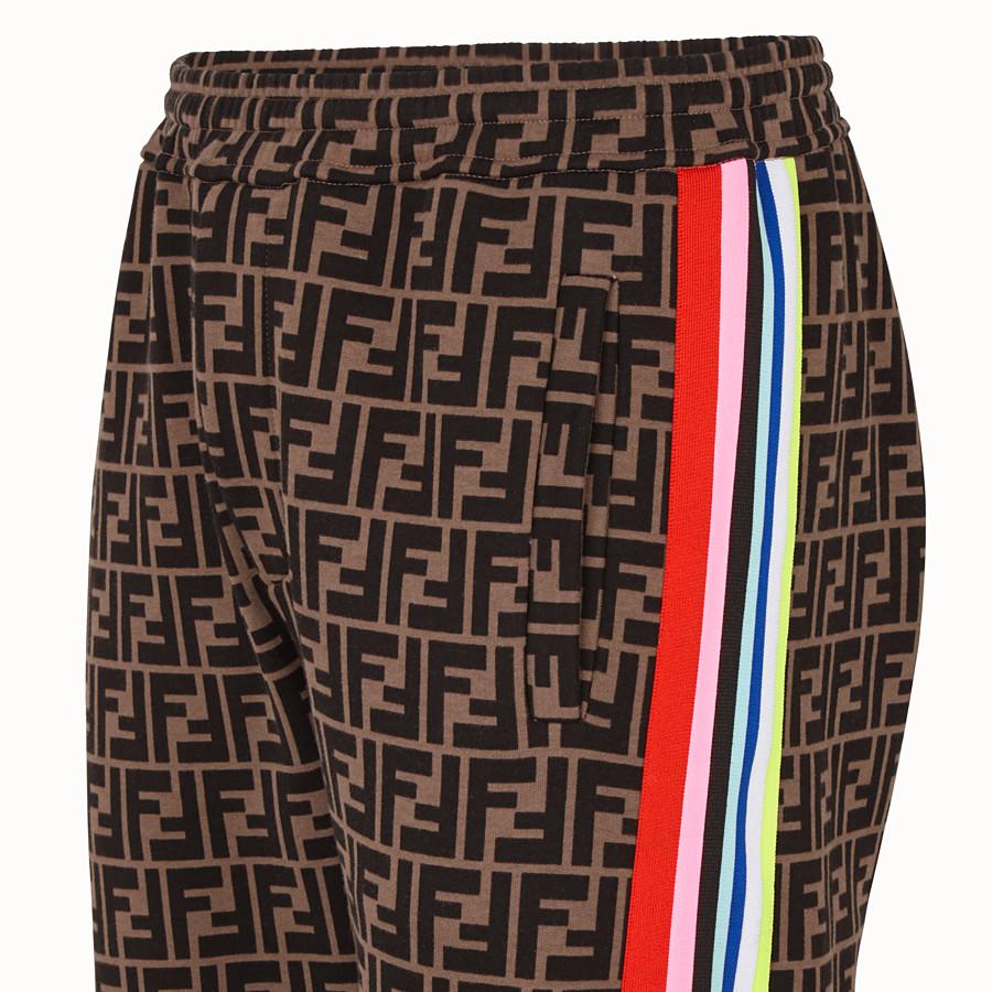 FENDI TROUSERS - Fendi Roma Amor fabric trousers - view 3 detail