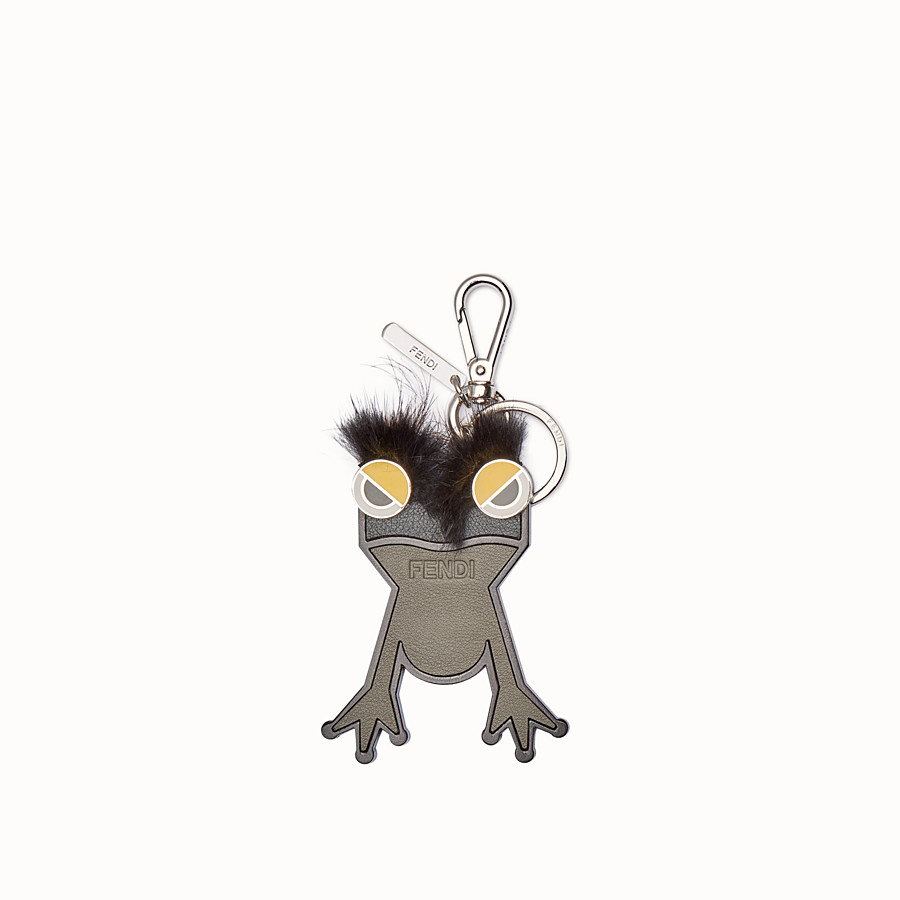 FENDI 鑰匙圈吊飾 - 雙色皮革和皮草吊飾 - view 1 detail