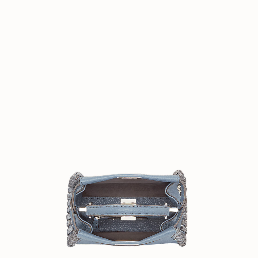 FENDI PEEKABOO MINI - Blue leather bag - view 4 detail