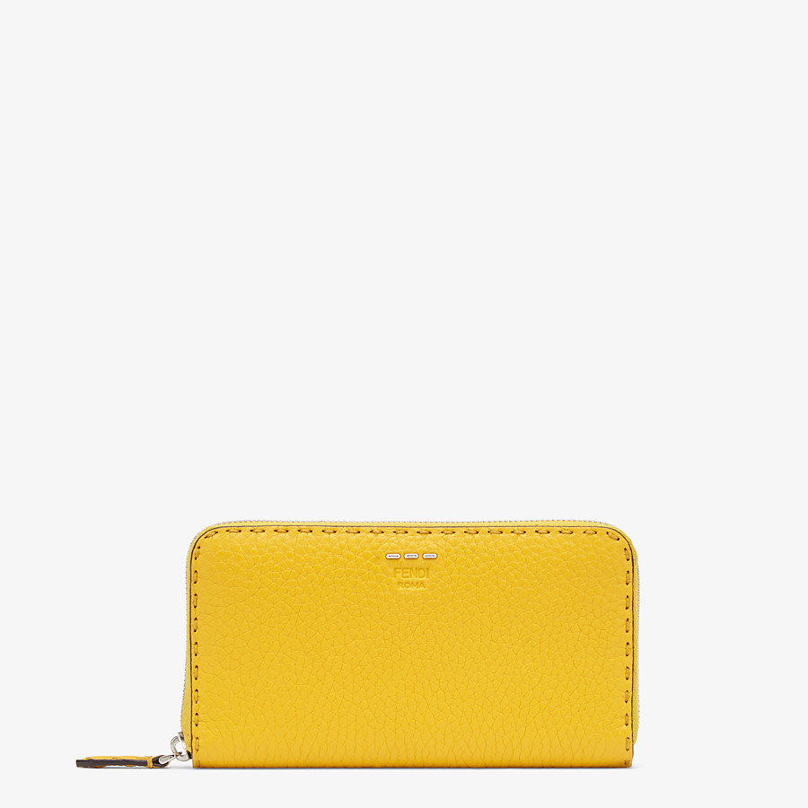 FENDI ZIP-AROUND - Yellow leather wallet - view 1 detail