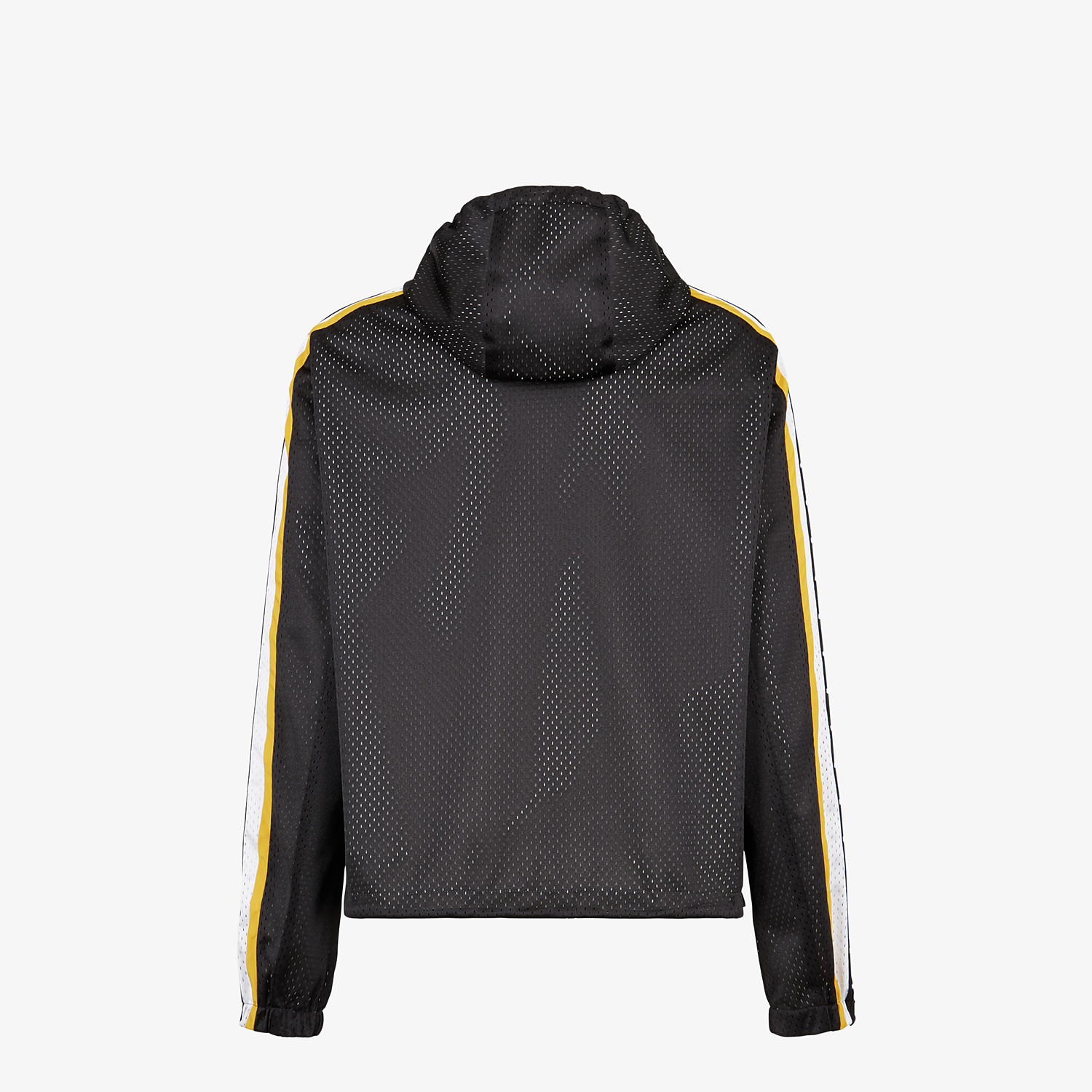 FENDI WINDBREAKER - Black tech mesh windbreaker - view 2 detail