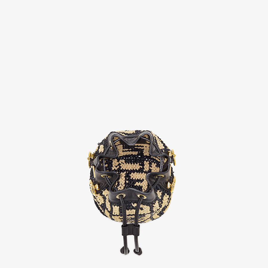 FENDI MON TRESOR - Black raffia mini-bag - view 4 detail