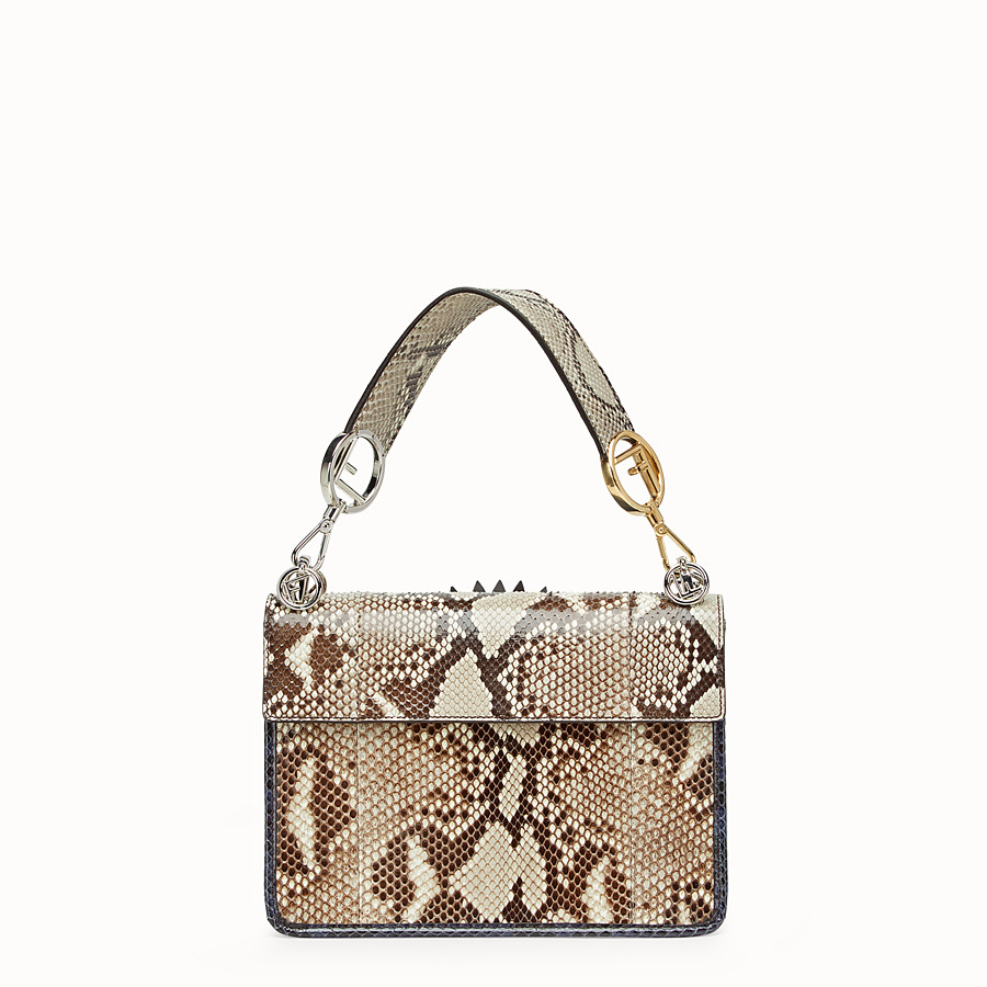 FENDI KAN I F - White python bag - view 3 detail
