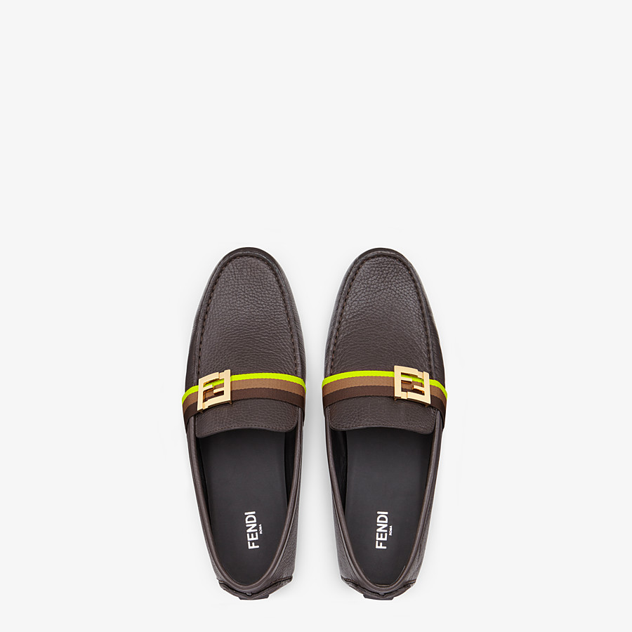 FENDI LOAFERS - Black leather drivers - view 4 detail