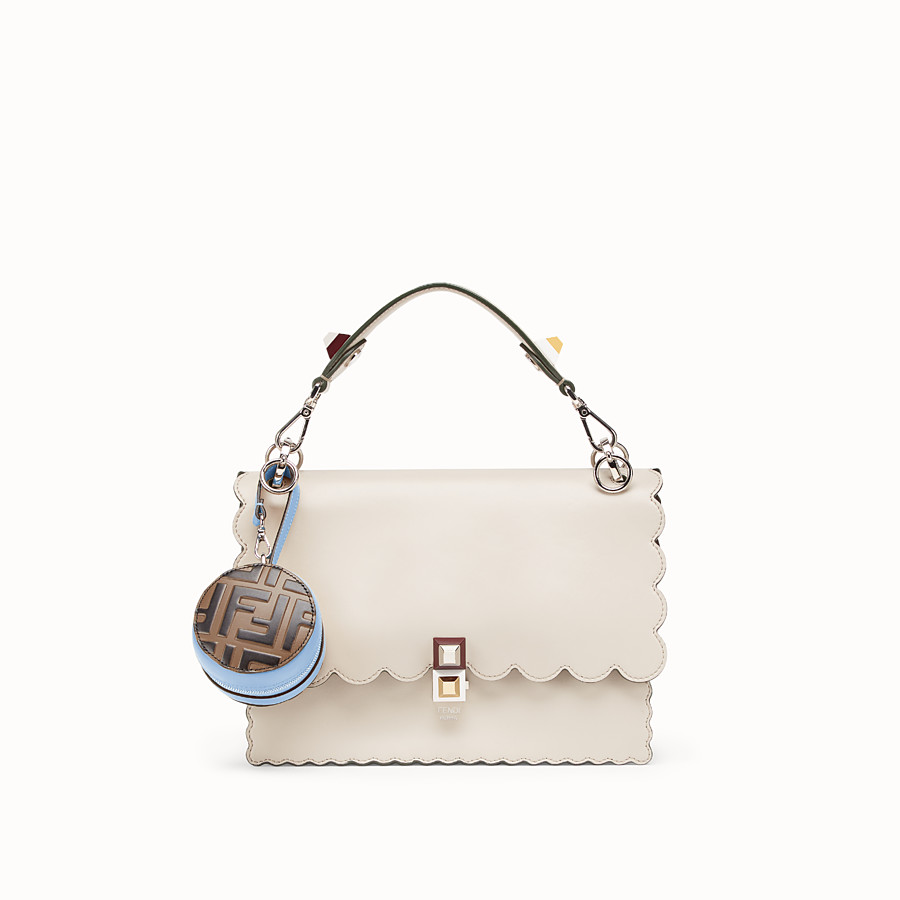 FENDI TOTE BAG CHARM - Pale blue leather charm - view 3 detail