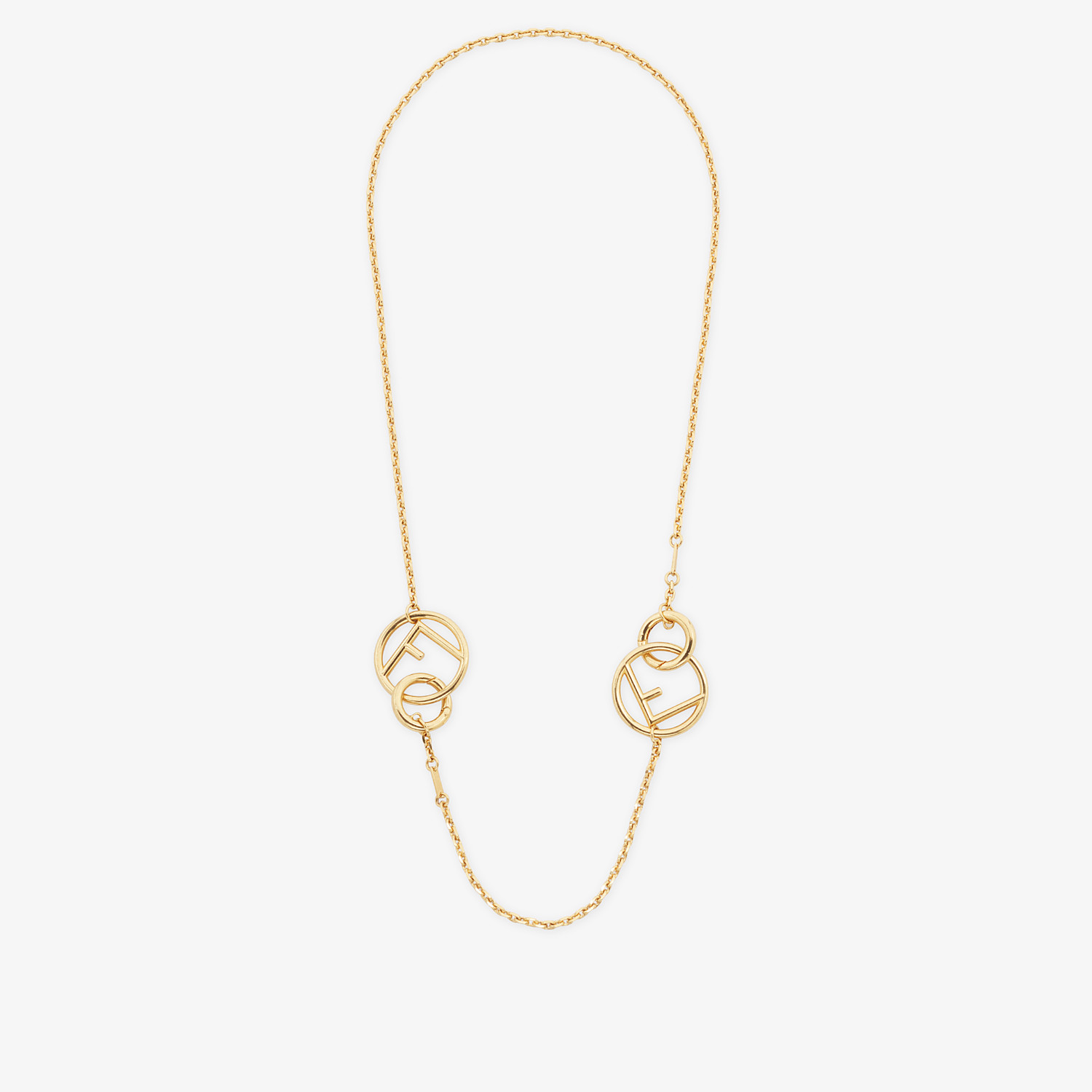 FENDI F IS FENDI NECKLACE - Gold-colour necklace - view 3 detail