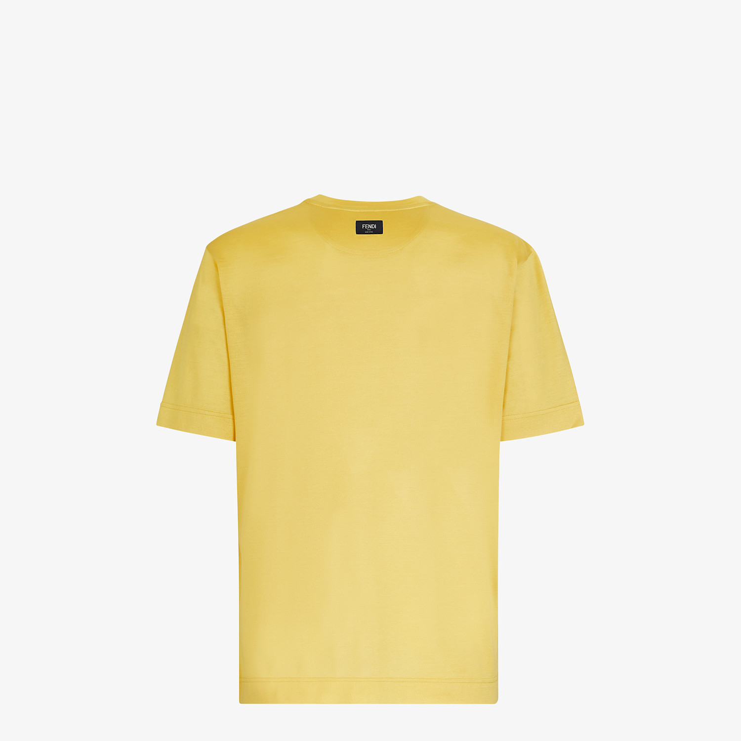 FENDI T-SHIRT - Yellow silk T-shirt - view 2 detail