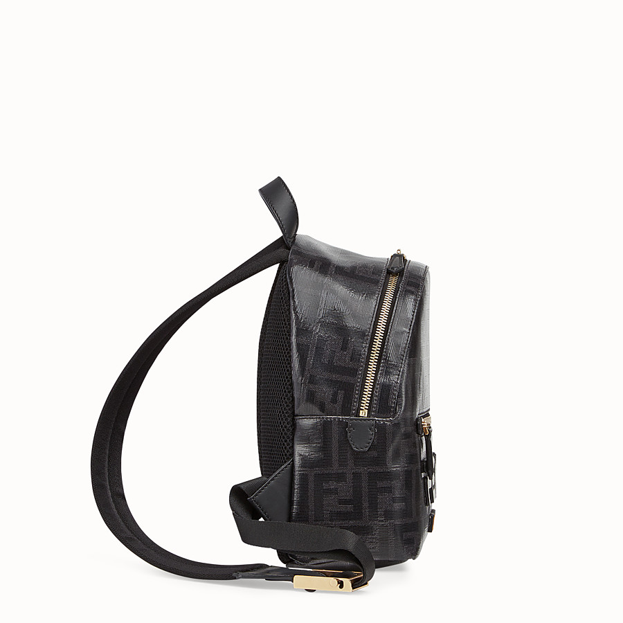 FENDI MINI BACKPACK - Small black canvas backpack - view 2 detail