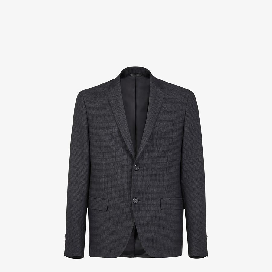 FENDI JACKET - Blazer in black cotton, silk and wool - view 1 detail
