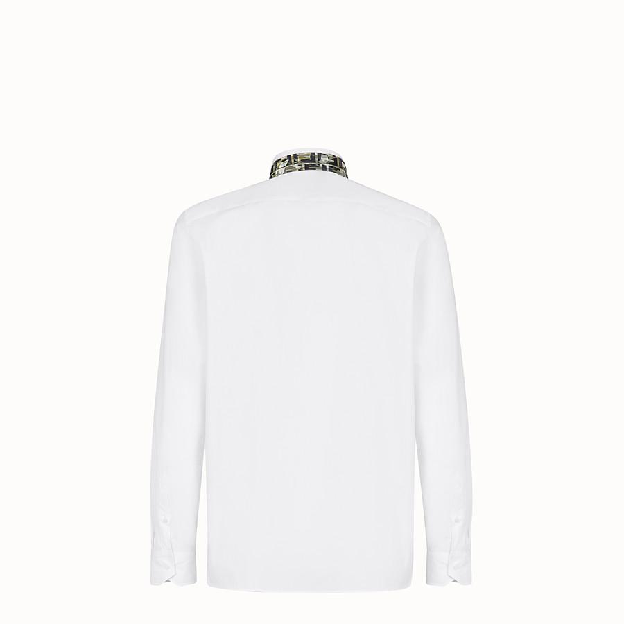 FENDI SHIRT - White cotton shirt - view 2 detail