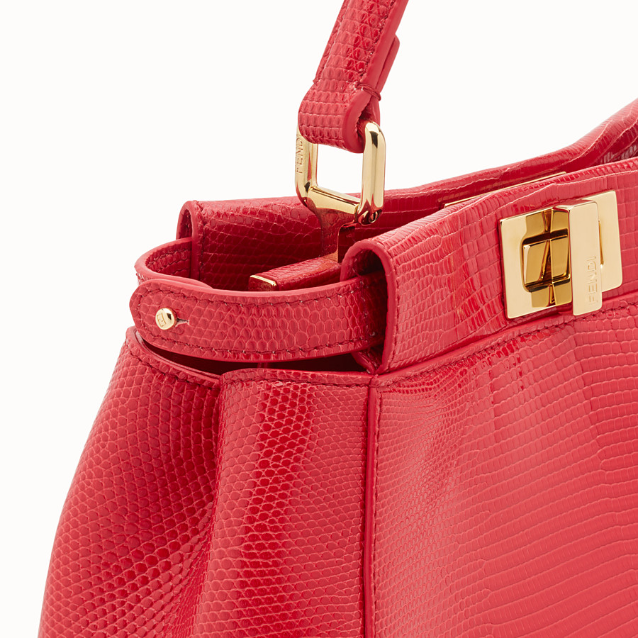 FENDI PEEKABOO MINI - Red lizard bag - view 5 detail