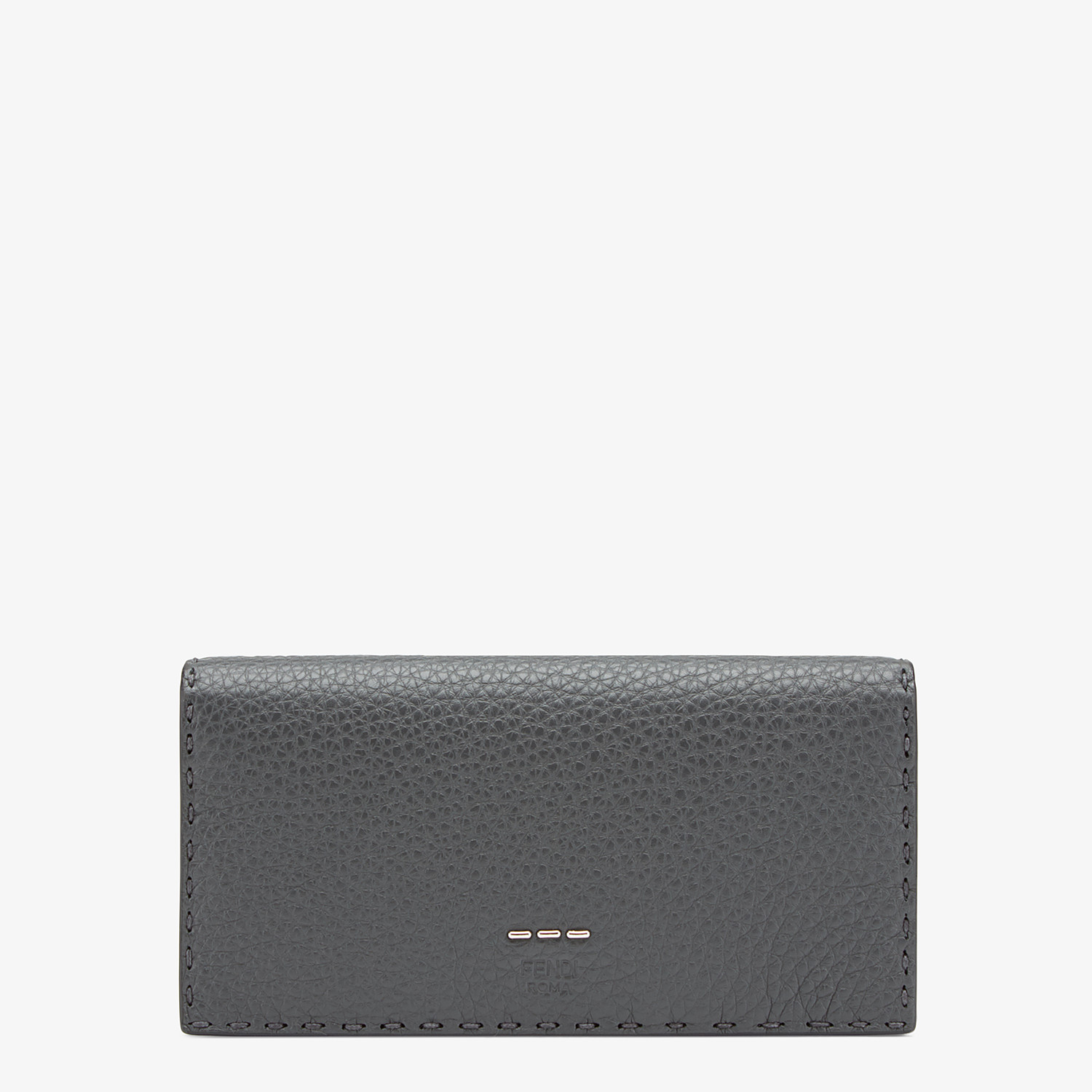 FENDI CONTINENTAL - Continental in grey Roman leather - view 1 detail