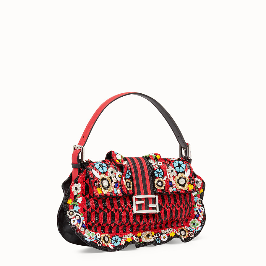 FENDI BAGUETTE - Embroidered shoulder bag with beads - view 2 detail